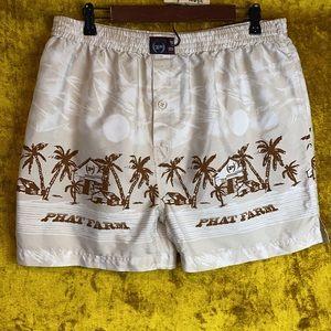 Phat Farm Vintage Island Tropical Boxers SizeXL
